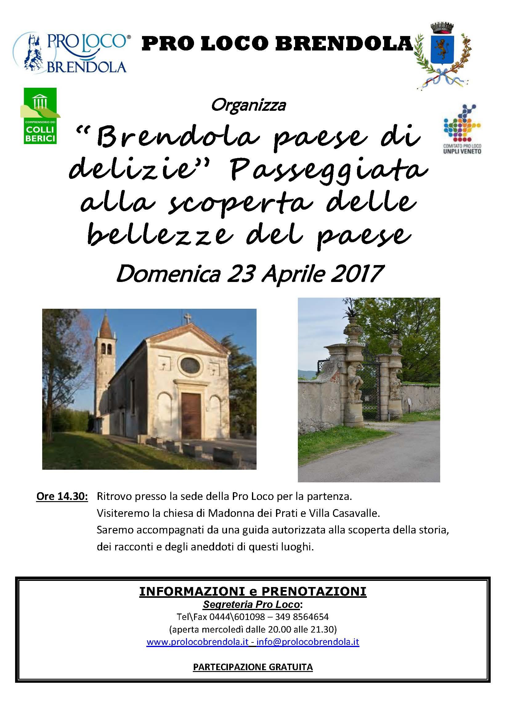 Passeggiata centro storico 23.04.2017