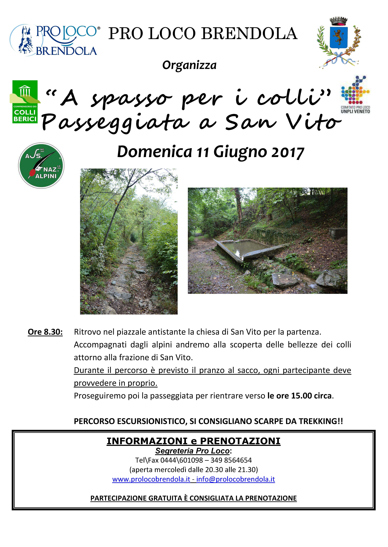 Passeggiata San Vito 11.06.2017
