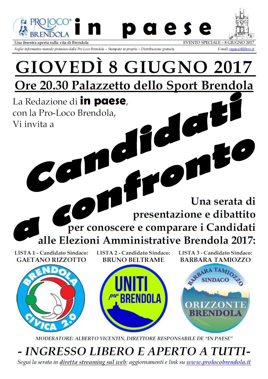 SERATA CONFRONTO CANDIDATI IN PAESE 8 GIUGNO 2017 - Manifesto